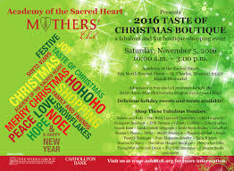 taste of christmas boutique u2013 academy of the sacred heart