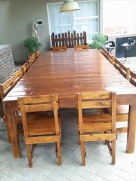 Patio Furniture Made Out Of Wooden Pallets by Sixteen Seater Pallet Dining Table Pallet Dining Tables Pallet