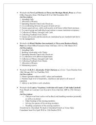Crew Member Job Description Resume Resume Utkarsh