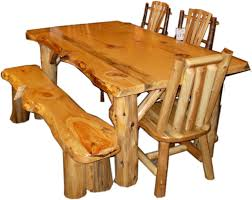 Pine Dining Room Tables Enchanting Log Kitchen Table And Chairs 87 With Additional Best