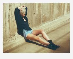 alysha nett h m flannel thrifted denim shorts h m ankle boots