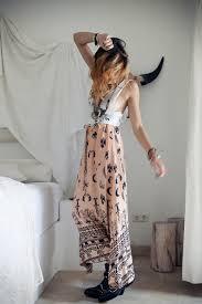 boho tribe maxi skirt peach 2394 f a s h i o n p h o t o