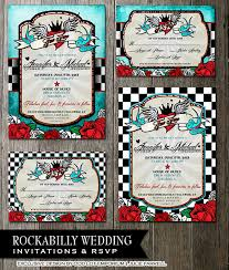 checkerboard wedding invitations rockabilly wedding invitations and rsvp offbeat wedding