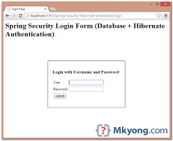 tutorial java spring hibernate spring security hibernate annotation exle mkyong com