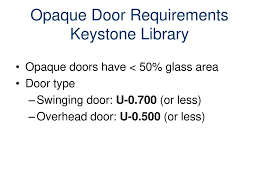 Keystone Overhead Door Energy Codes And The Building Envelope Ppt