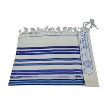 prayer shawls from israel buy bnei or wool blue stripes tallit prayer shawl israel catalog