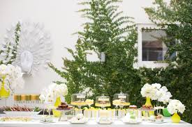 Bridal Shower Decor by Yellow Mint And White Summer Spa Bridal Shower Inspired By This