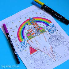 easy peasy coloring page sky city coloring page for adults easy peasy and fun