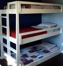 Triple Bunk Bed Designs Diy Triple Bunk Bed Plans Free Home Design Ideas