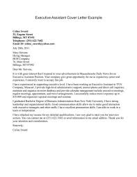 executive administrative assistant cover letter cover letter