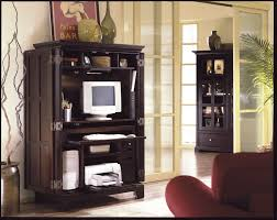 Computer Armoire Sauder by Furniture Wonderful Black Computer Armoire With Cool Ornament