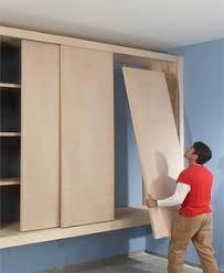 Make Sliding Cabinet Doors I Need Ideas For Sliding Cabinet Doors The Cheap Version Hi