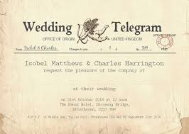 Telegram Wedding Invitation Wedding Invitations U2013 Josephine And Daughters