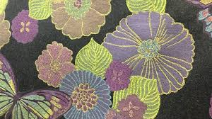 Ufo Upholstery Lime Green And Purple Butterfly Tapestry 54 Inch Upholstery