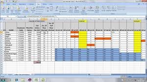 officegyan com attendence sheet in excel avi youtube