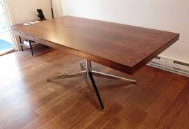Rosewood Laminate Flooring Vintage Florence Knoll Partners Desk Or Executive Table In