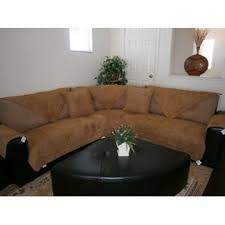 octorose camel quilted bonded or classic micro suede sectional