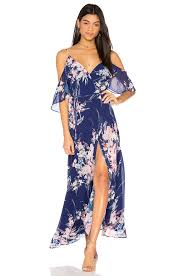 revolve dresses yumi endless maxi dress botanical garden navy women