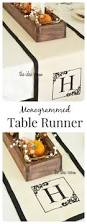 diy table runner monogrammed