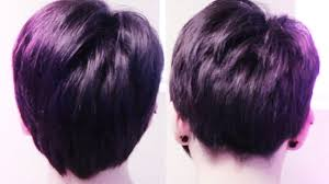 photo of the back of hair with a short bob how to cut back of hair pixie cut youtube