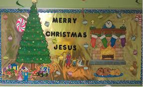 merry jesus bulletin board idea for church