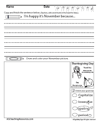 writing prompts november asl teaching resources