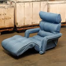 Sofa Chair Recliner Dusty Blue Floor Sofa Chair Recliner With Armrest For Floor