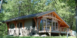 A Frame Kit by Bristol Mountain Cabin Timber Frame Case Study