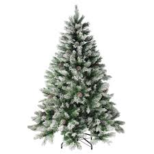 artifical christmas trees 6 flocked angel pine with pine cones artificial christmas tree