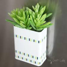 Succulent Planter Diy by Diy Magnetic Succulent Planter The Crazy Craft Lady