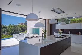Italian Kitchen Cabinets Miami Modern Luxury Kitchen Design With White Laminate Island