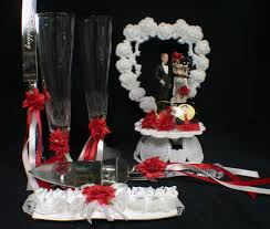 betty boop red silver wedding cake topper lot knife serve