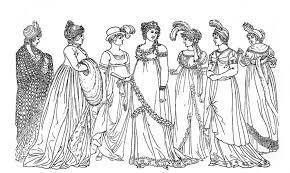 2014 vintage kids printable regency ladies color page for girls