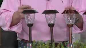 Paradise Solar Lights Costco by Paradise Set Of 8 Color Select Solar Light Set With Remote On Qvc