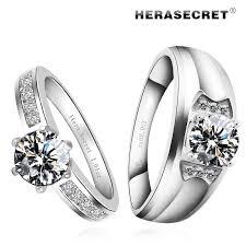 diamond couple rings images Very flash diamond top simulation couple rings wedding ring jpg