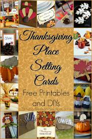 thanksgiving place setting cards printables and diys