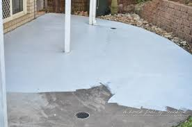 Painting Concrete Patio Slab Backyard Makeover How To Paint Concrete To Look Like Oversize