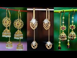 sui dhaga earrings design sui dhaga jhumka earrings sui dhaga gold earrings designs gold