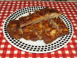bbq pork spare ribs cooked in the toaster oven youtube