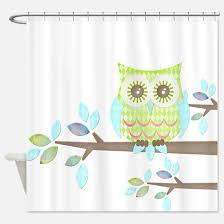 Owl Fabric Shower Curtain Mod Owl Shower Curtains Mod Owl Fabric Shower Curtain Liner