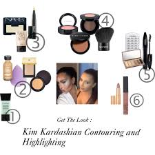 s used to contour and highlight inspired by kim kardashian kimkardashian makeup contouring