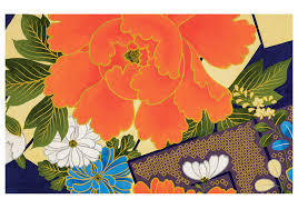 japanese textile design birthday card