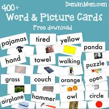 words cards teach your baby to read word picture cards doman inspired