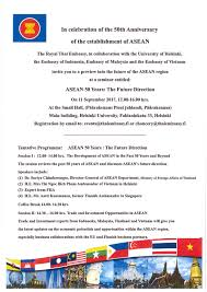 how 2 events 50 years announced welcome to the seminar asean 50 years the future