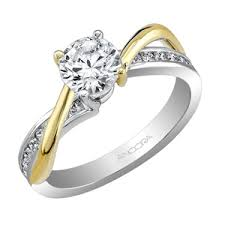 two tone gold engagement rings two tone gold engagement ring semi mount