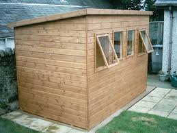 garden sheds plans for a pent shed