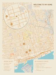 Map Me Home Personalized City Maps Your Hospitality Art
