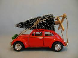 classic vw beetle bug with tree by maggiesklosets
