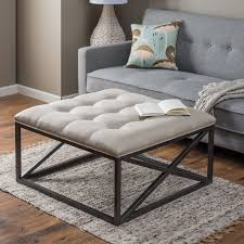 leather and metal ottoman belham living grayson tufted coffee table ottoman hayneedle