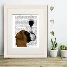 Dog Home Decor by Boxer Print Dog Au Vin Book Print By Fabfunky Home Decor